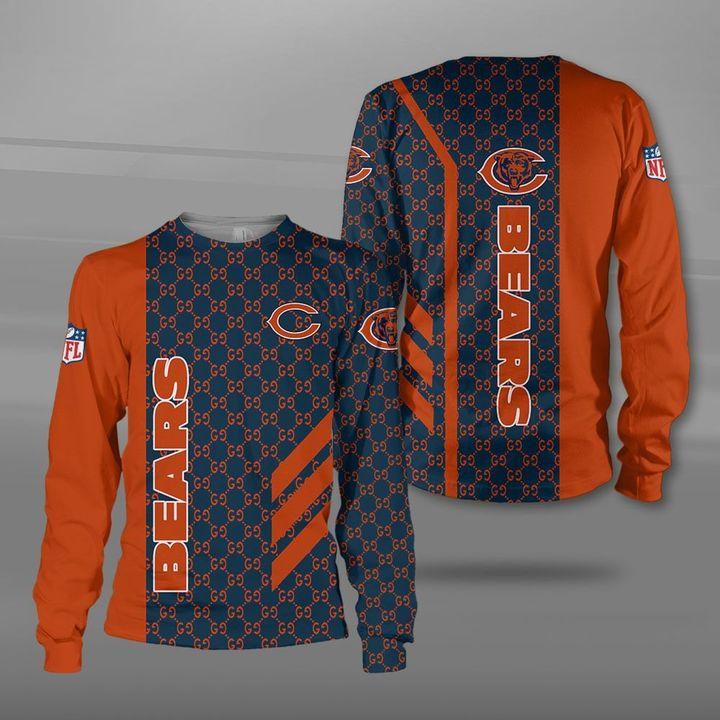 Chicago bears football team full printing sweatshirt