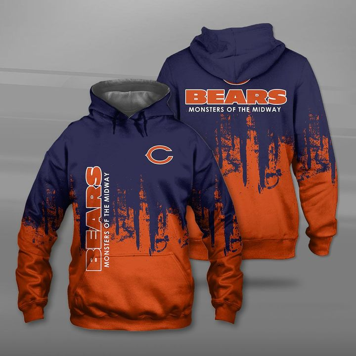 Chicago bears monsters of the midway full printing hoodie