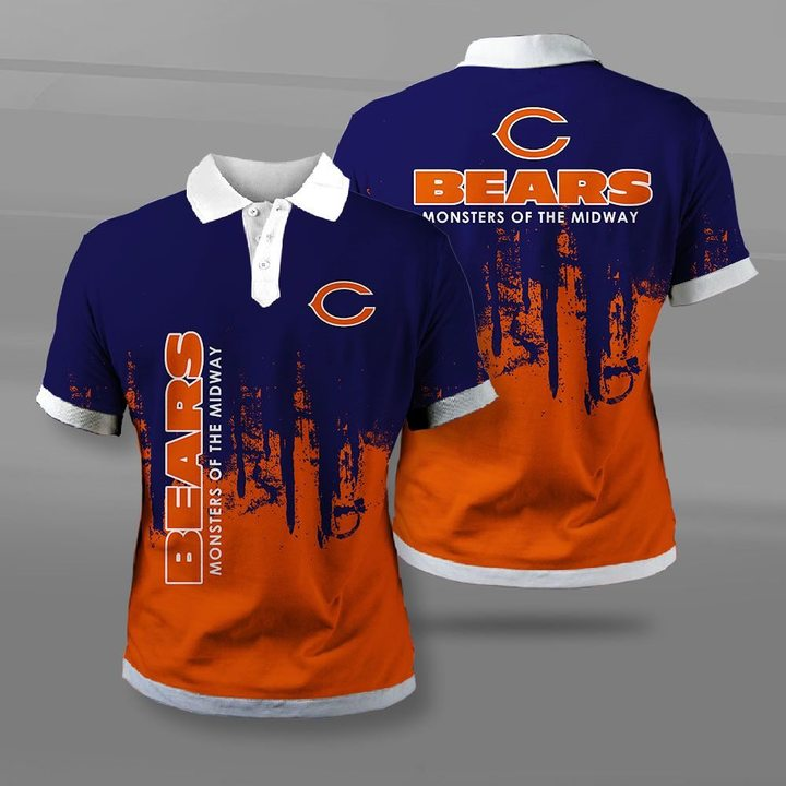 Chicago bears monsters of the midway full printing polo
