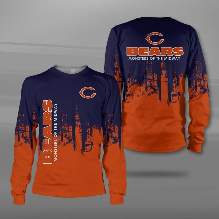 Chicago bears monsters of the midway full printing sweatshirt