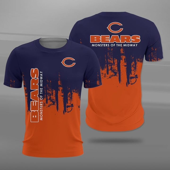 Chicago bears monsters of the midway full printing tshirt