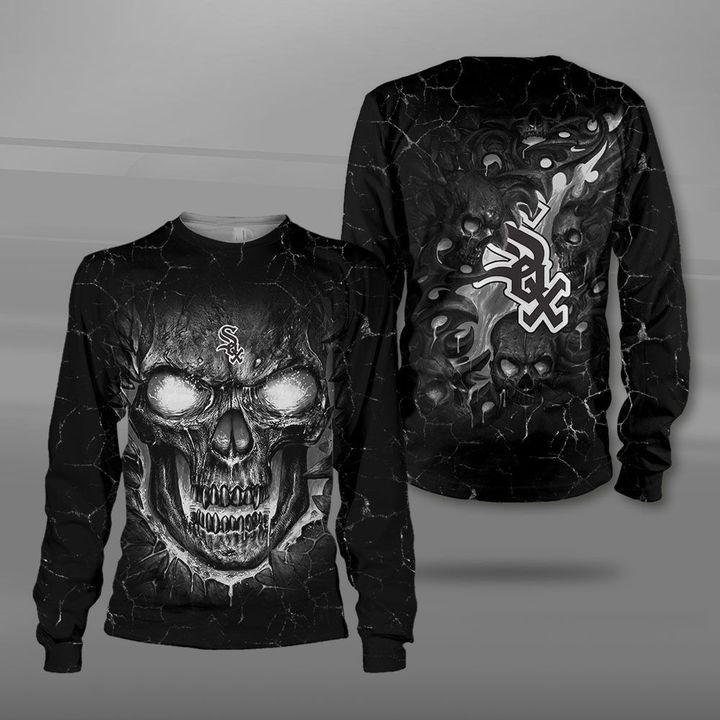 Chicago white sox lava skull full printing sweatshirt