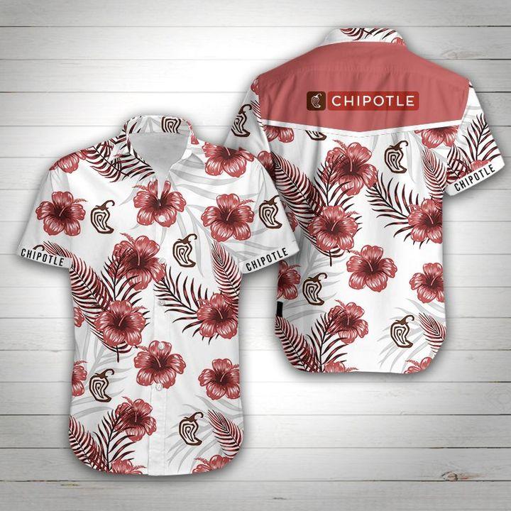 Chipotle tropical flower hawaiian shirt 4