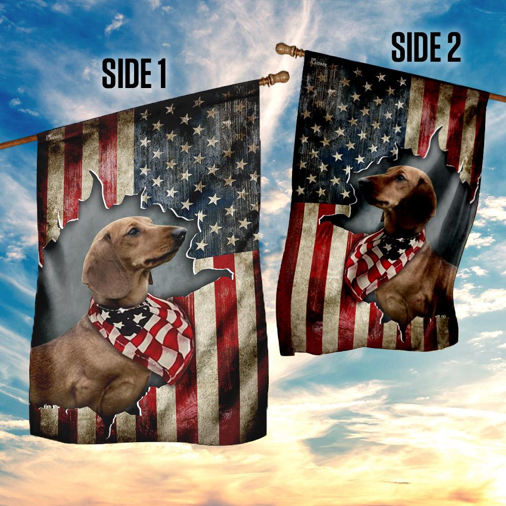 Dachshund happy 4th of july american us flag 4