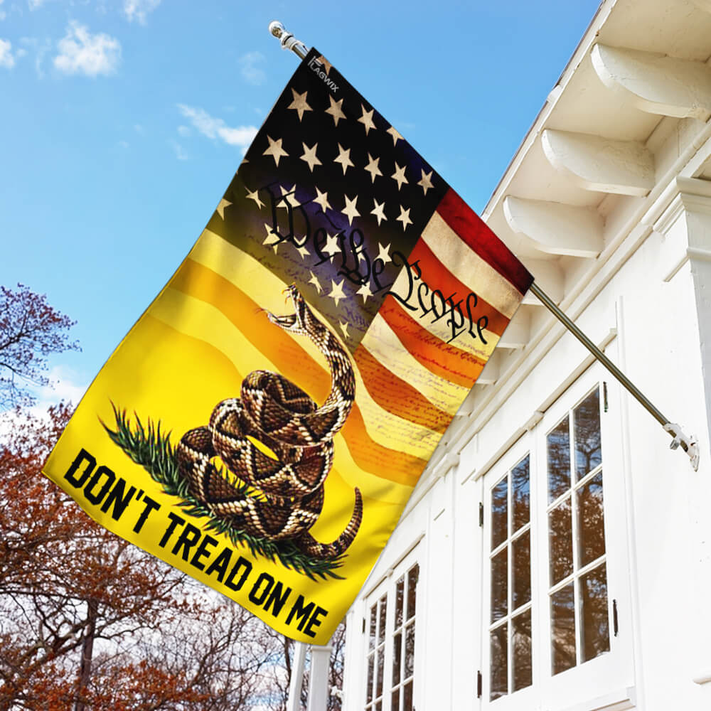Don't tread on me we the people libertarian gadsden flag 1