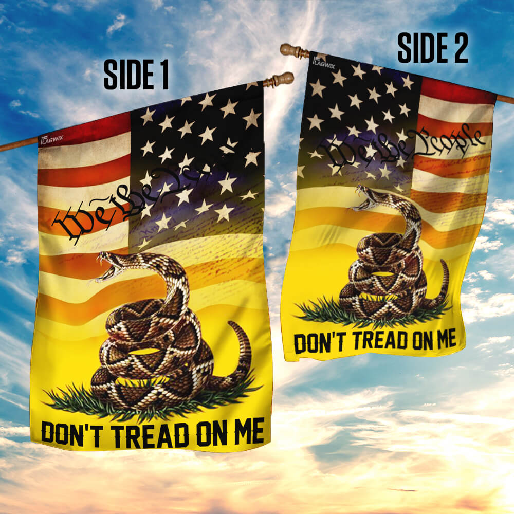Don't tread on me we the people libertarian gadsden flag 4