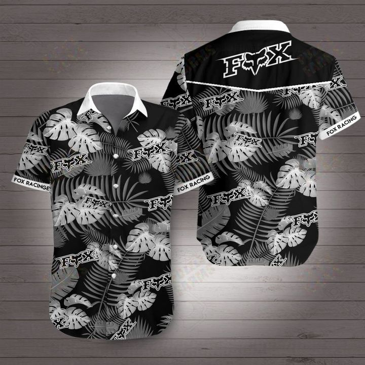 Fox racing fox head inc hawaiian shirt 4