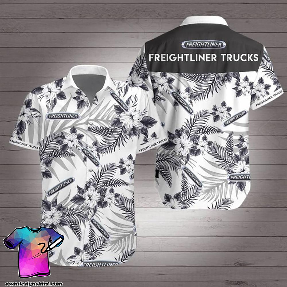 Freightliner trucks hawaiian shirt