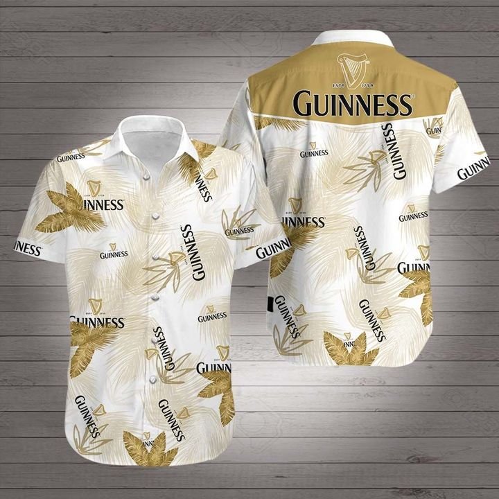 Guinness beer hawaiian shirt 1