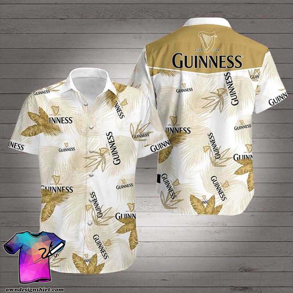 Guinness beer hawaiian shirt