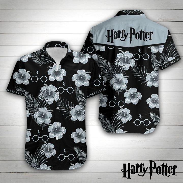 Harry potter tropical flower hawaiian shirt 1