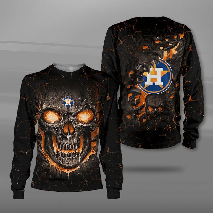 Houston astros lava skull full printing sweatshirt