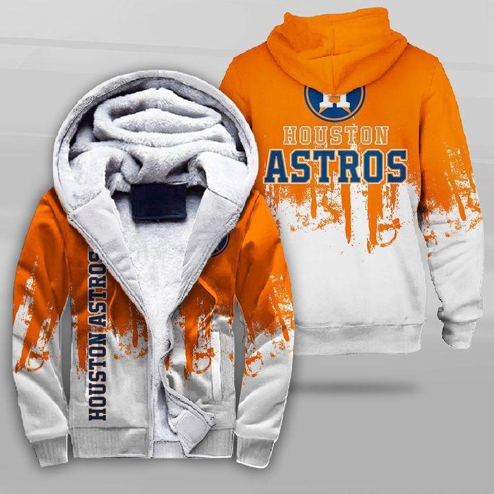 Houston astros team full printing fleece hoodie