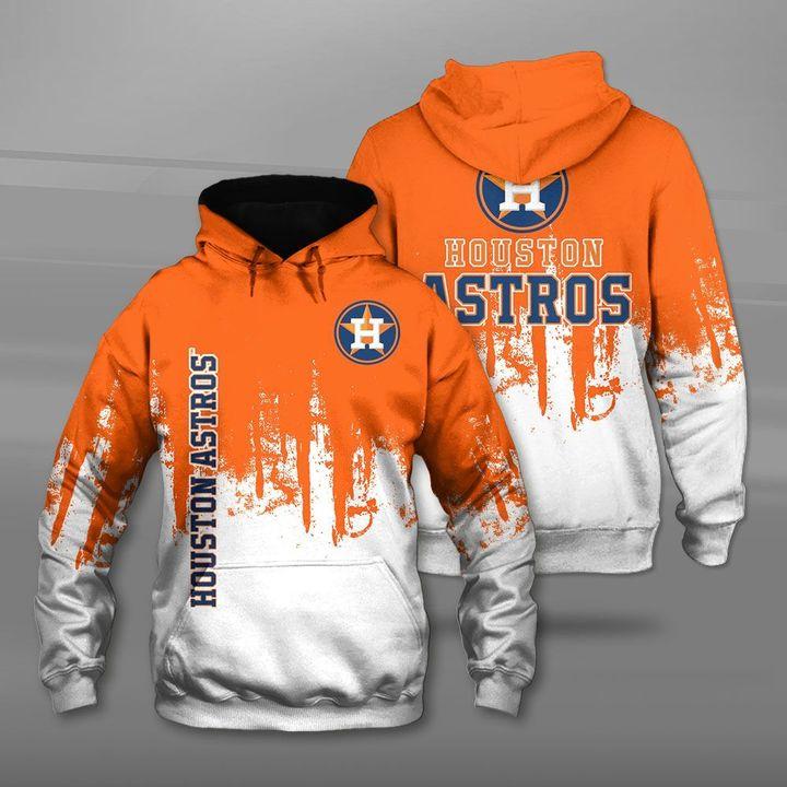 Houston astros team full printing hoodie