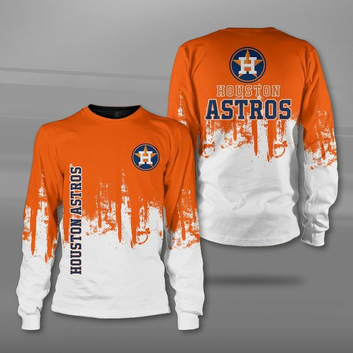 Houston astros team full printing sweatshirt