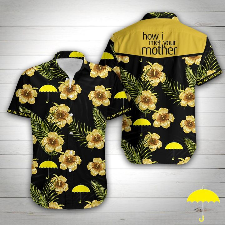 How i met your mother tropical flower hawaiian shirt 1