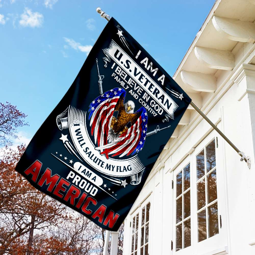 I am a us veteran i am a proud american flag 1