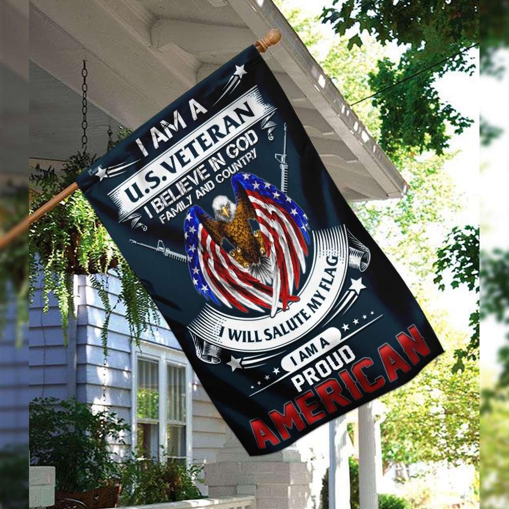 I am a us veteran i am a proud american flag 2