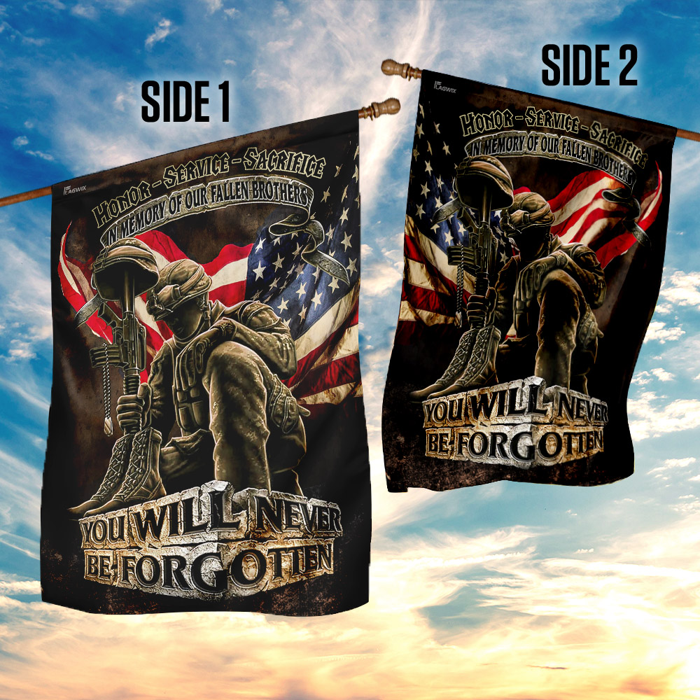 In memory of our fallen brothers you will never be forgotten veterans american flag 4
