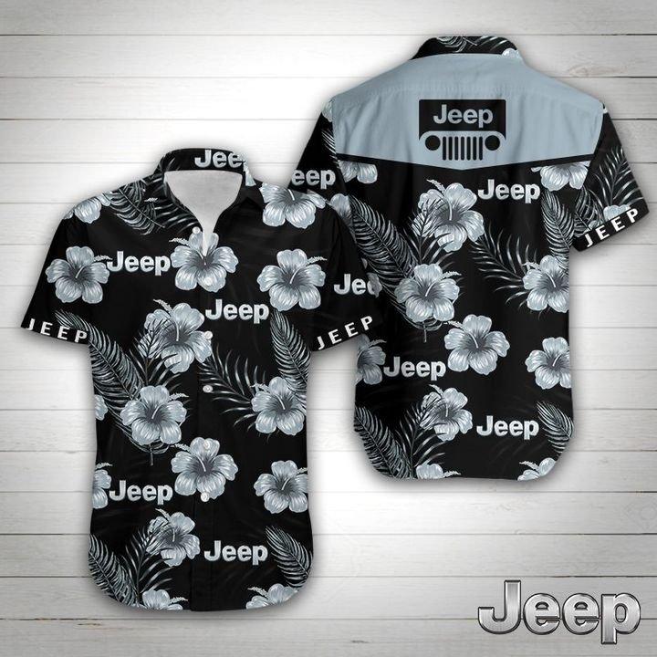 Jeep tropical flower hawaiian shirt 1