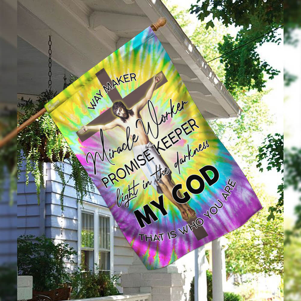 Jesus christian way maker hippie 4th of july american flag 2