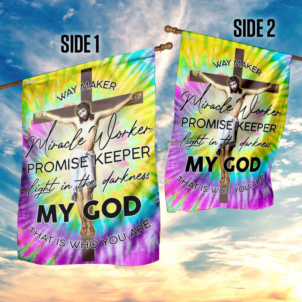 Jesus christian way maker hippie 4th of july american flag 4