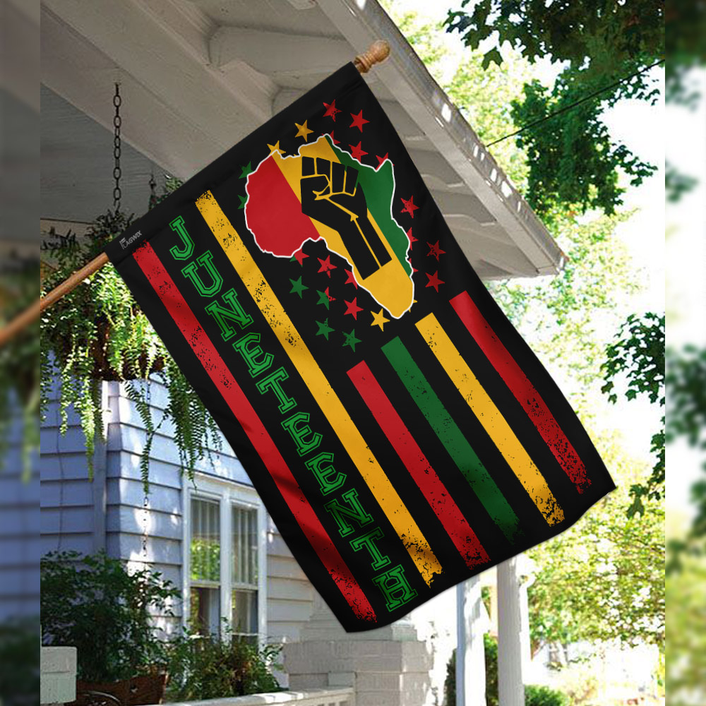 Juneteenth freedom day flag 2