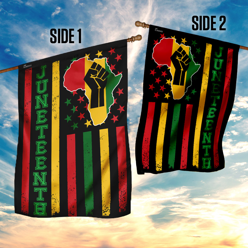 Juneteenth freedom day flag 4