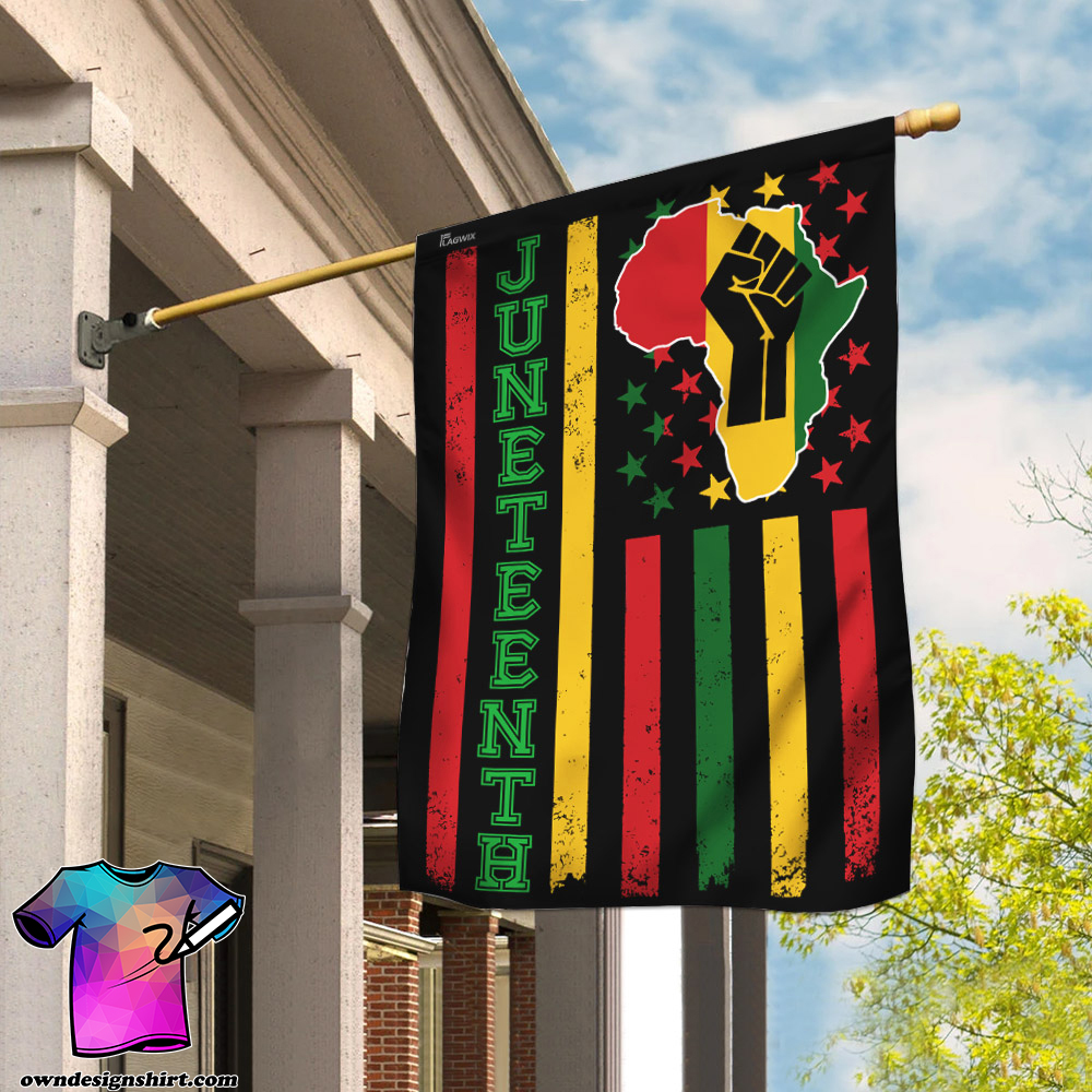 Juneteenth freedom day flag
