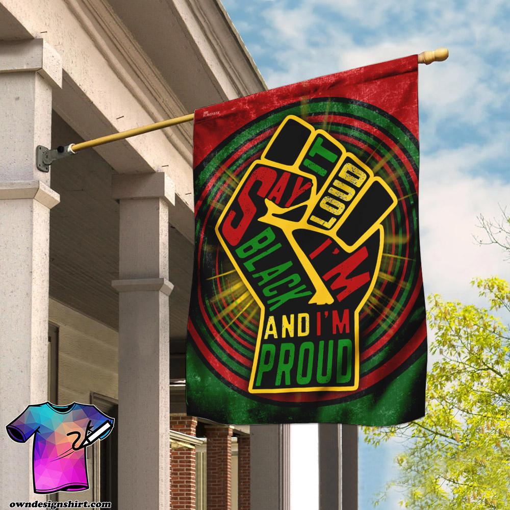 Juneteenth say it loud i_m black and i_m proud flag