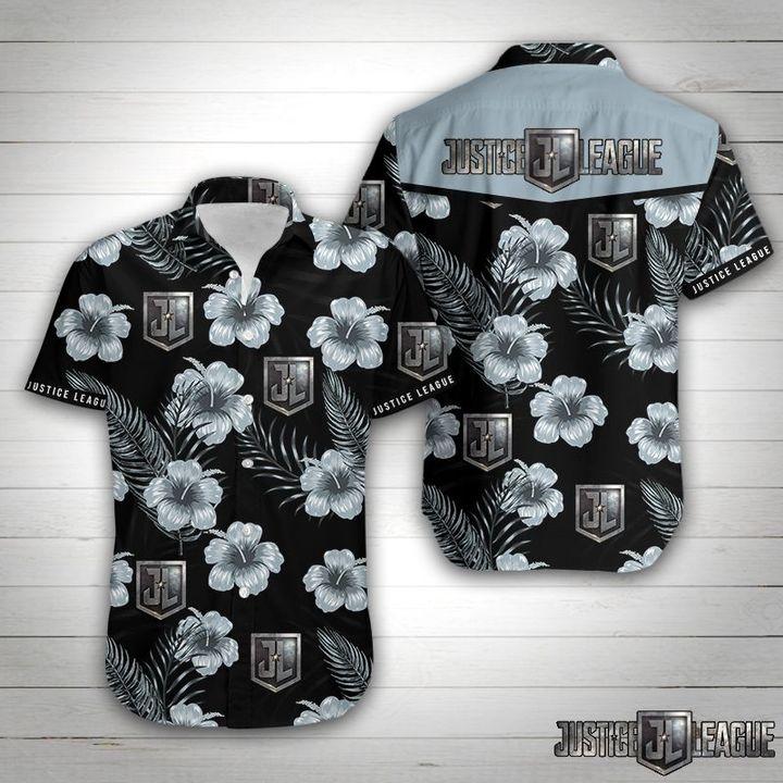 Justice league tropical flower hawaiian shirt 1
