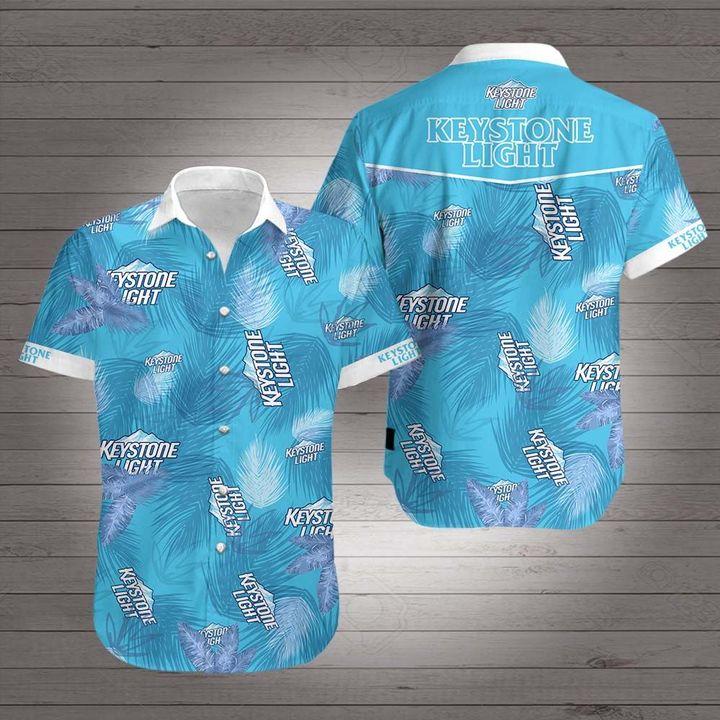 Keystone light summer vibes hawaiian shirt 3