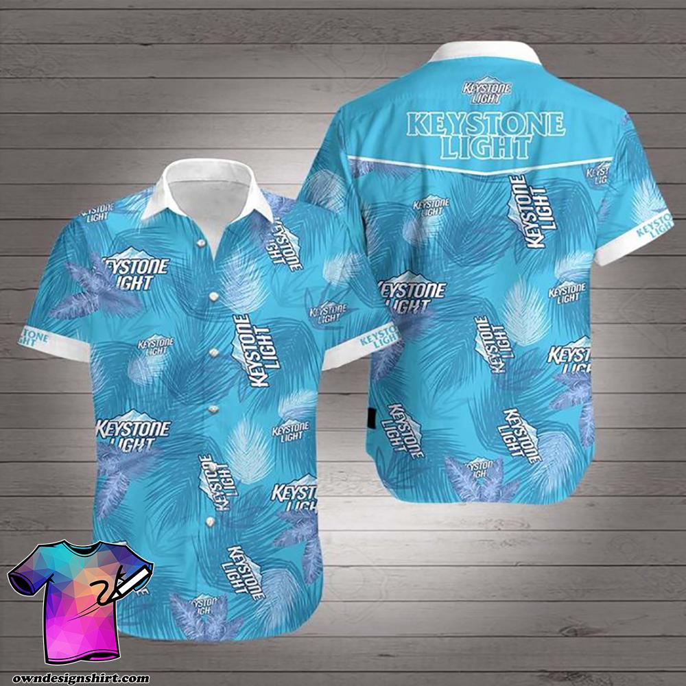 Keystone light summer vibes hawaiian shirt