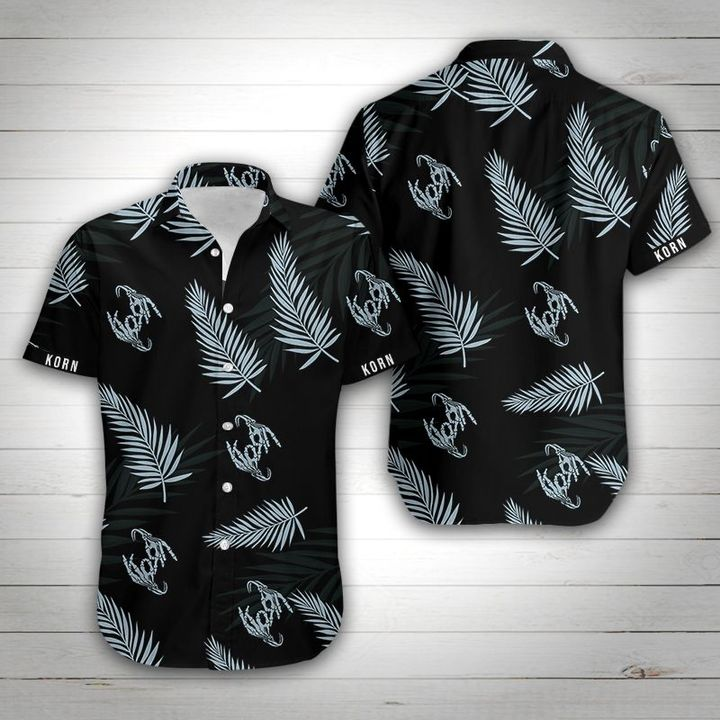 Korn tropical flower hawaiian shirt 1