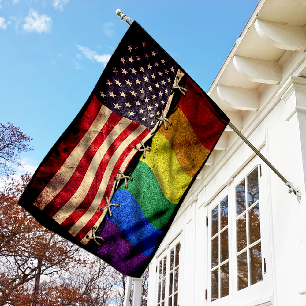 LGBT american independence day flag 1