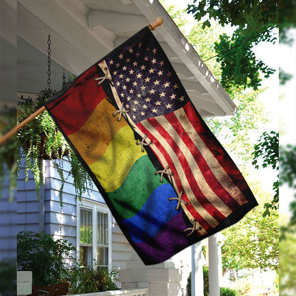 LGBT american independence day flag 2