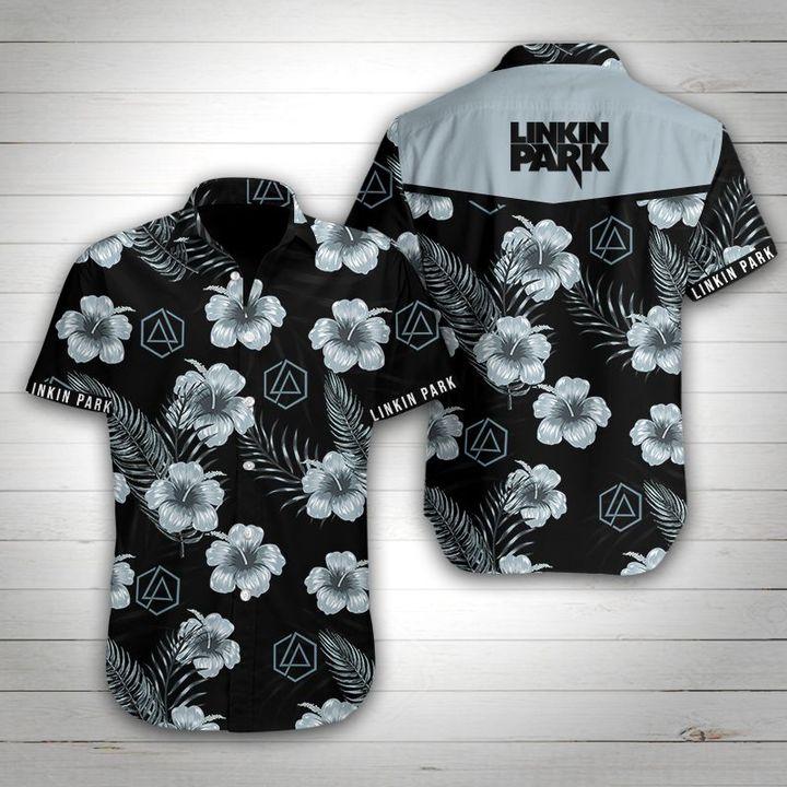 Linkin park rock band tropical flower hawaiian shirt 1