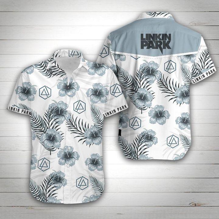Linkin park tropical flower hawaiian shirt 1