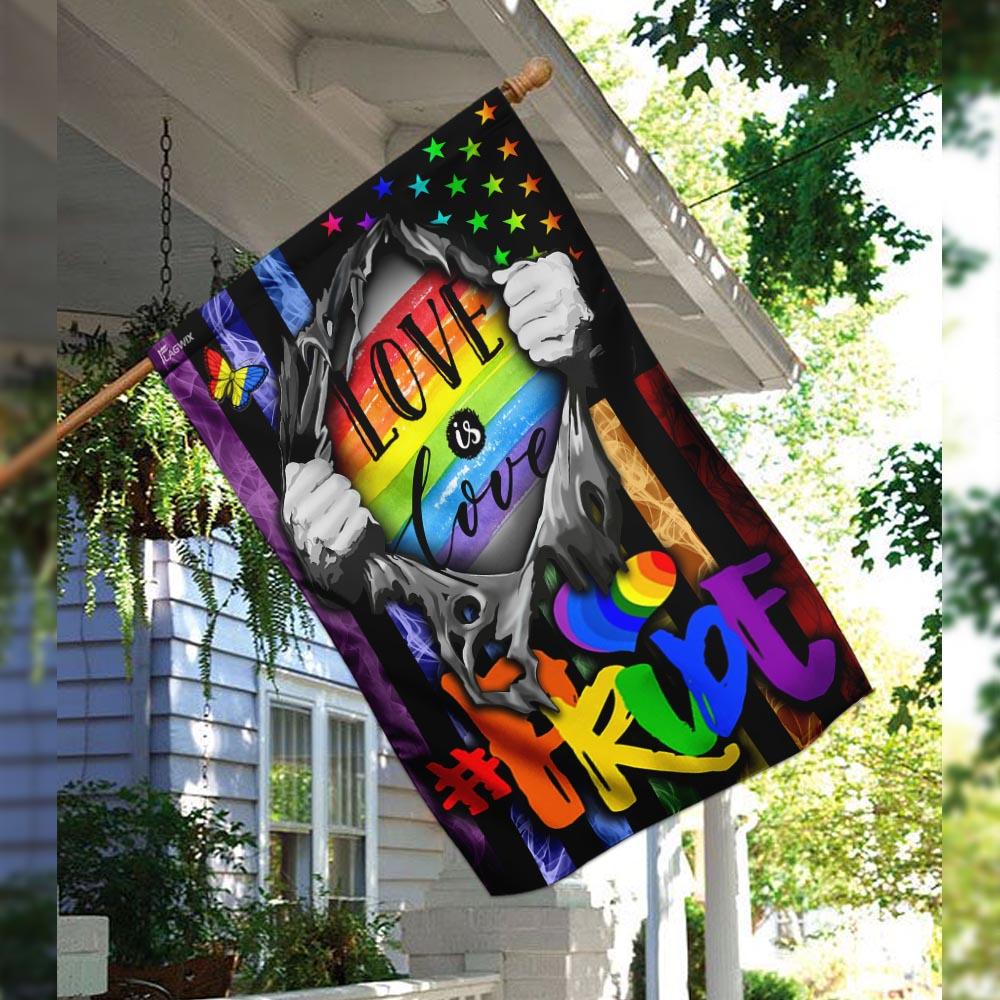 Love is love lgbt flag 2