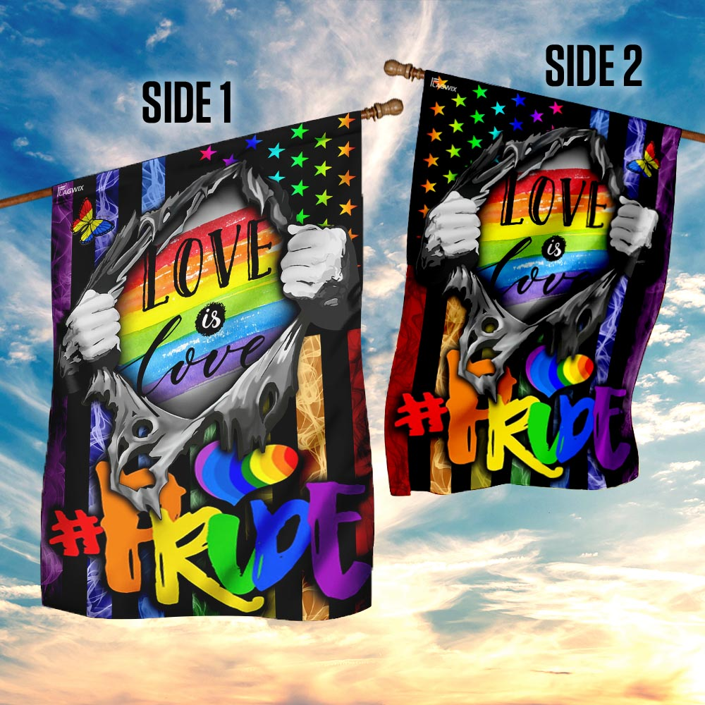 Love is love lgbt flag 4