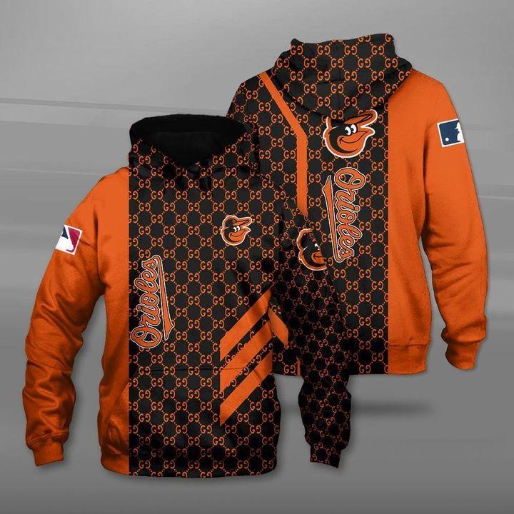 MLB baltimore orioles full printing hoodie