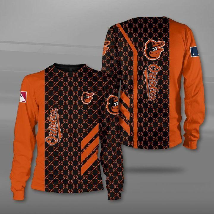 MLB baltimore orioles full printing sweatshirt