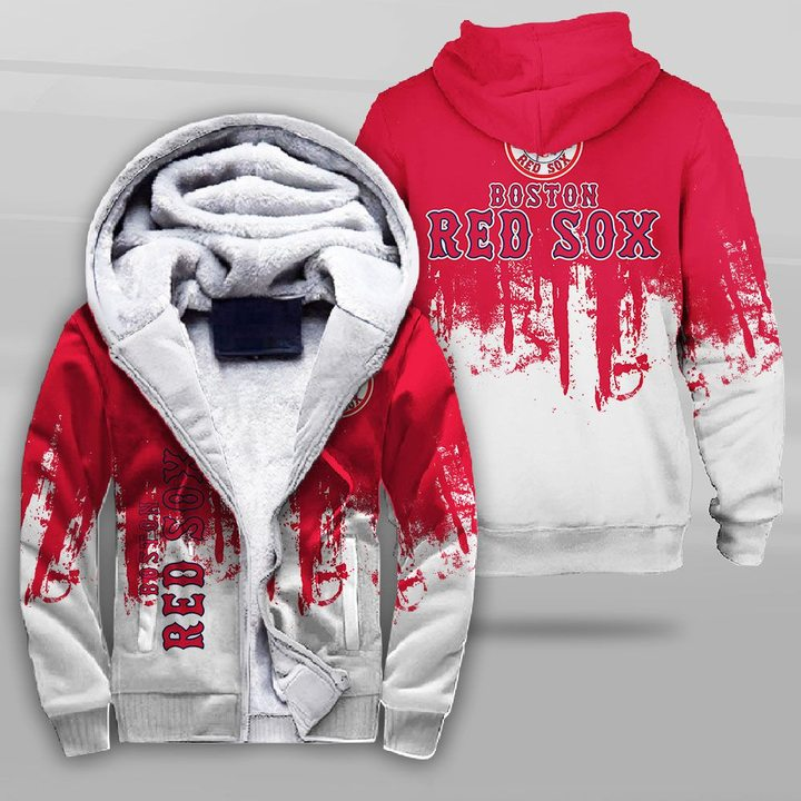 MLB boston red sox full printing fleece hoodie