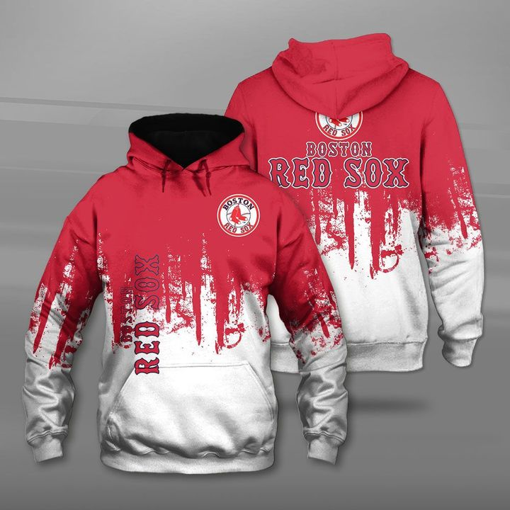 MLB boston red sox full printing hoodie