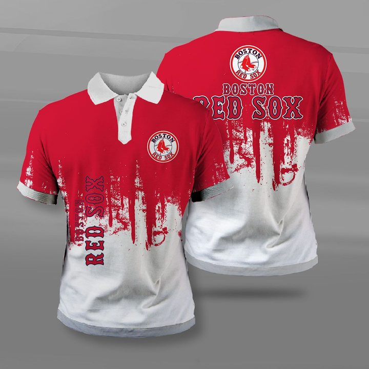 MLB boston red sox full printing polo