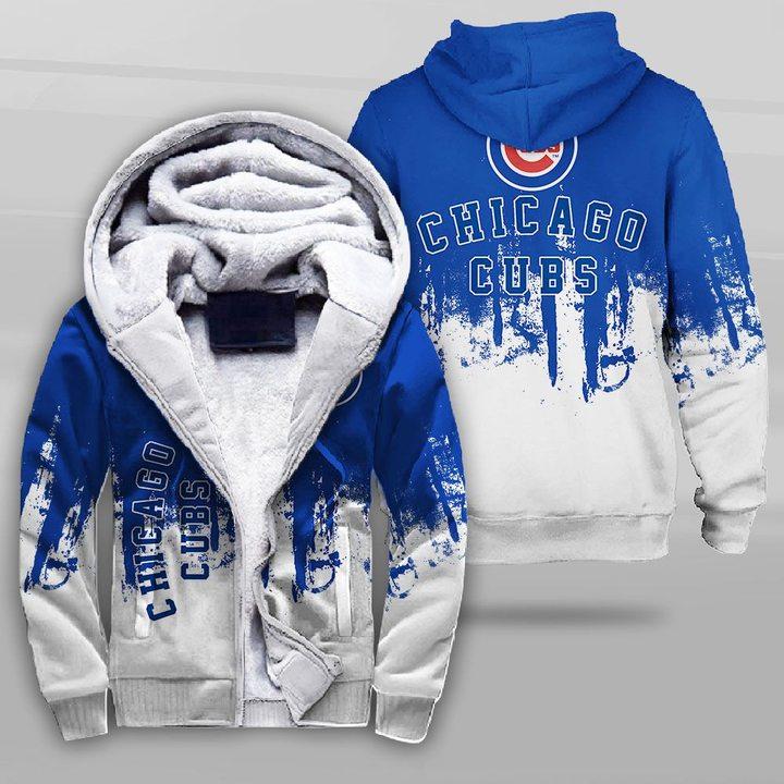 MLB chicago cubs full printing fleece hoodie