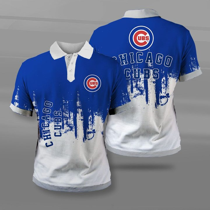 MLB chicago cubs full printing polo