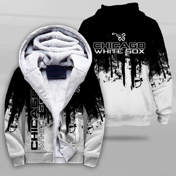 MLB chicago white sox full printing fleece hoodie