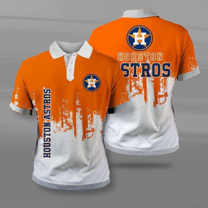 MLB houston astros full printing polo