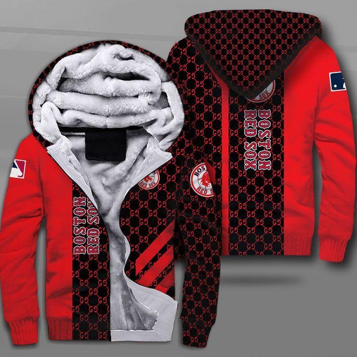 Major league baseball boston red sox full printing fleece hoodie